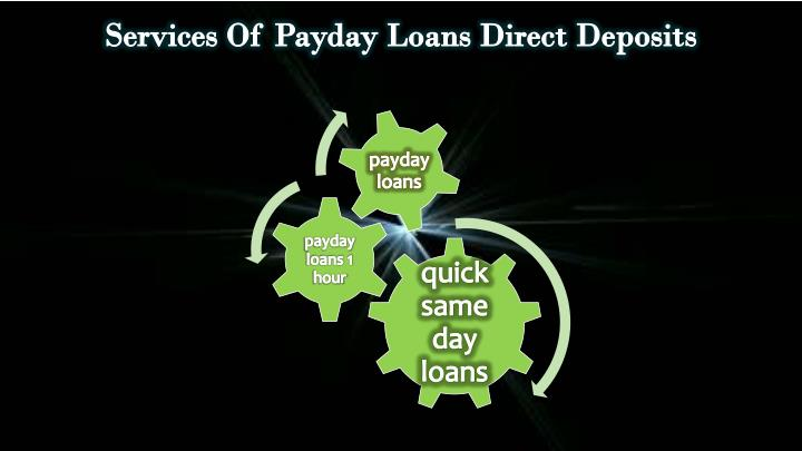 Services Of Payday Loans Direct Deposits
