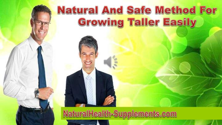 Natural And Safe Method For Growing Taller Easily
