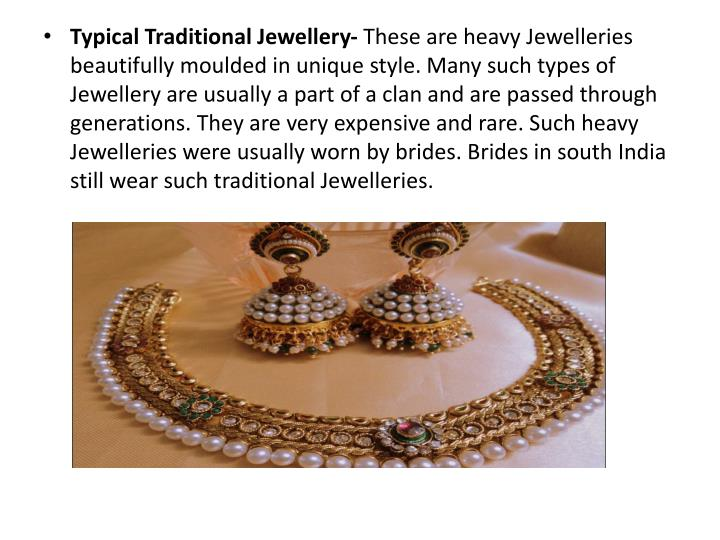 Typical Traditional Jewellery-