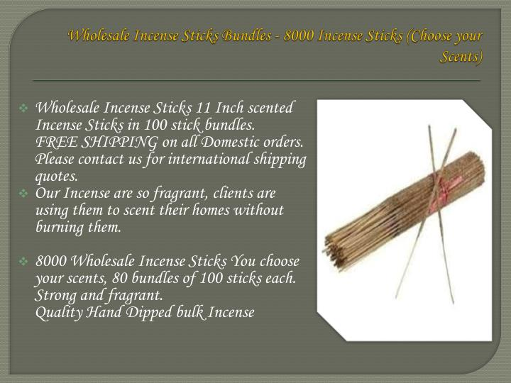 Wholesale Incense Sticks Bundles - 8000 Incense Sticks (Choose your Scents)