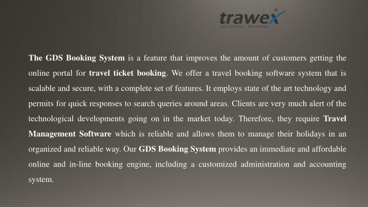 The GDS Booking System