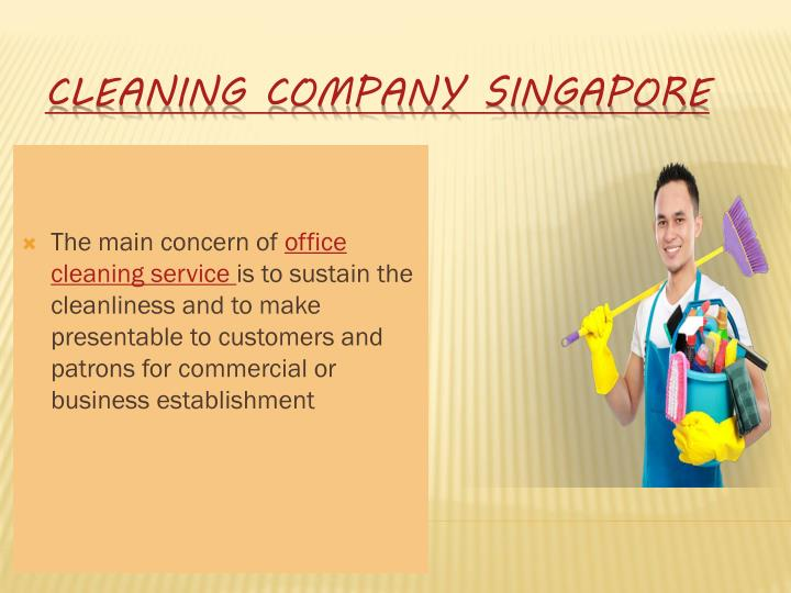 Cleaning company singapore