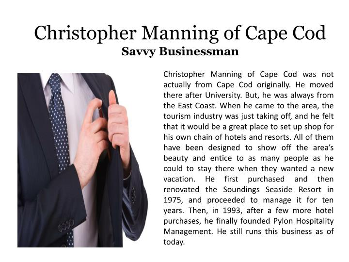Christopher Manning of Cape Cod
