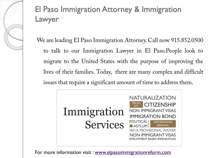 El Paso Immigration Attorney & Immigration Lawyer