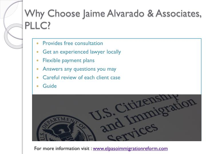 Why Choose Jaime Alvarado & Associates, PLLC?