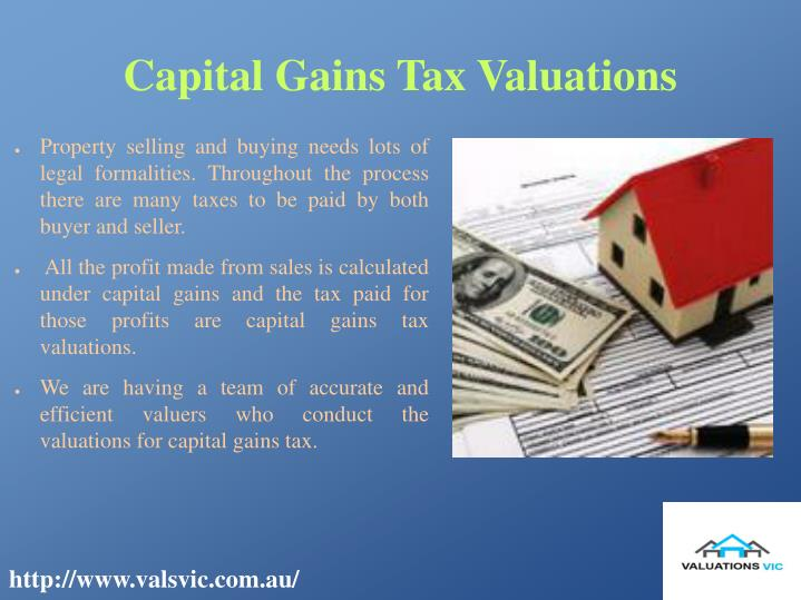 Capital gains tax valuations