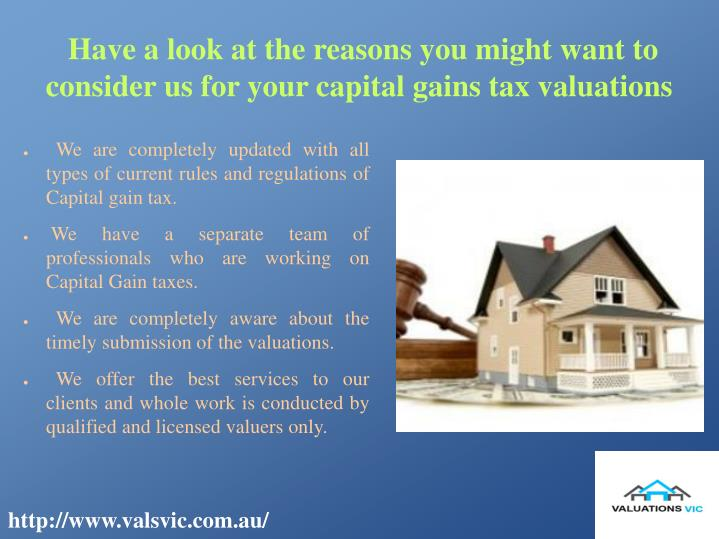 Have a look at the reasons you might want to consider us for your capital gains tax valuations