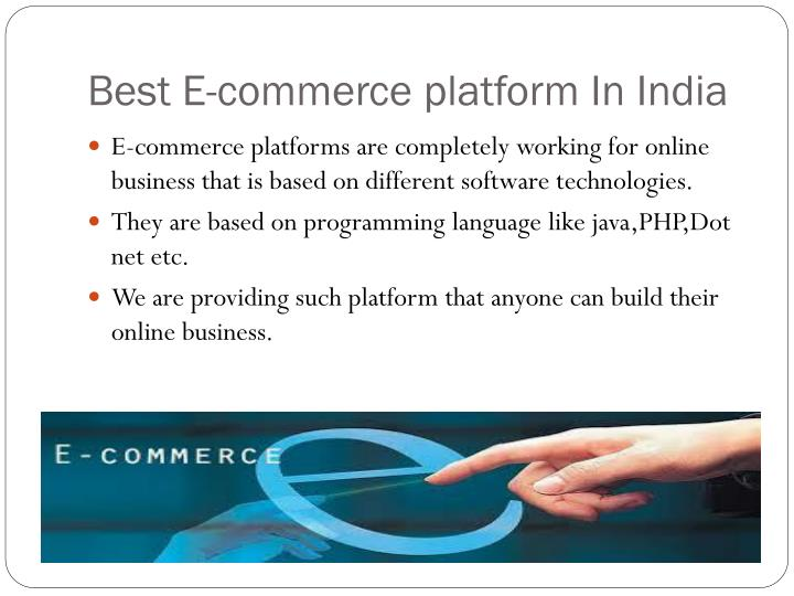 Best E-commerce platform In India