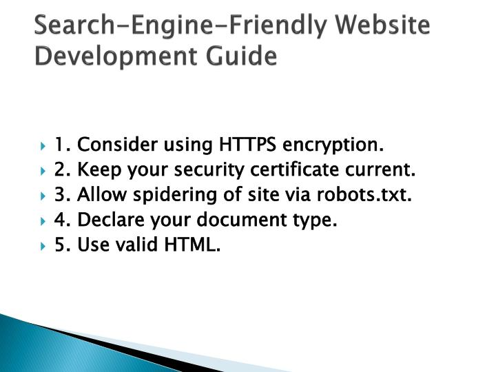 Search-Engine-Friendly Website Development Guide