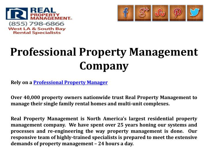 Professional Property Management Company