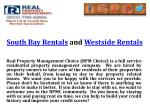 south bay rentals and westside rentals
