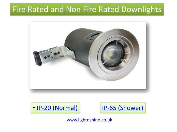 Fire Rated and Non Fire Rated Downlights