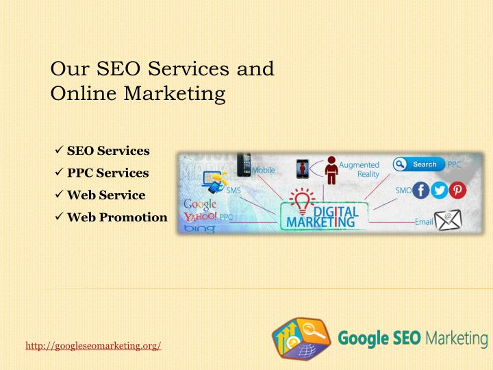 Our SEO Services and Online Marketing