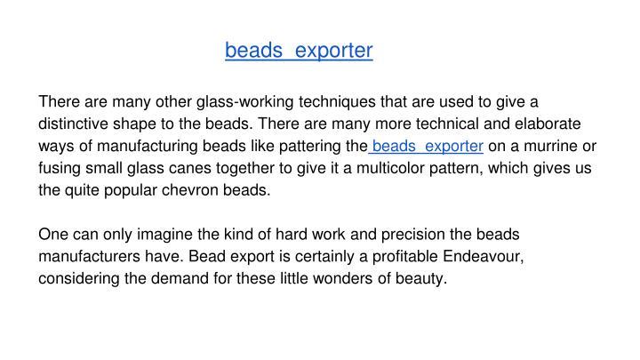 beads  exporter