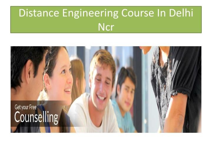 Distance engineering course in delhi ncr