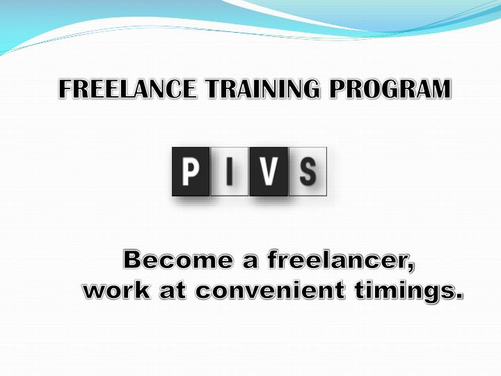 Freelance training program