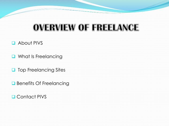 Overview of freelance