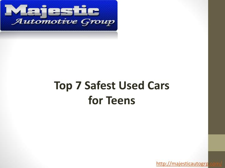 ppt top 7 safest used cars for teens powerpoint presentation id 7187886. Black Bedroom Furniture Sets. Home Design Ideas