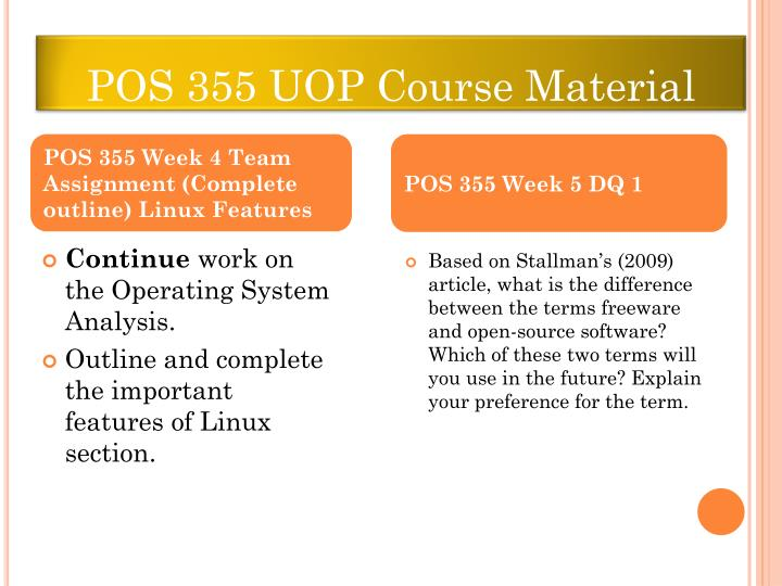 pos 355 entire course new ver Print pos 355,uop pos 355,pos 355 entire course new flashcards and study them anytime, anywhere.