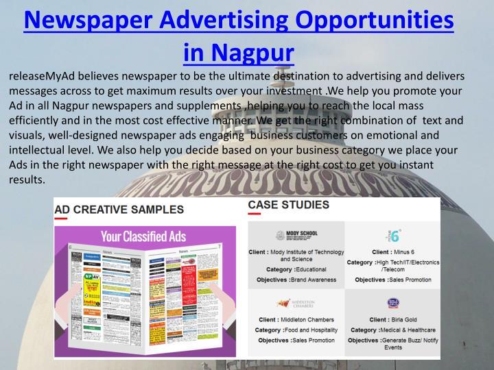 Newspaper Advertising Opportunities in