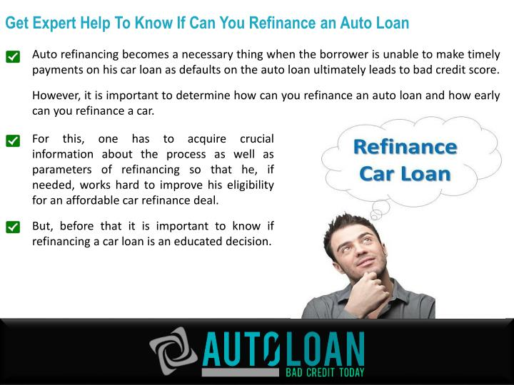 Get Expert Help To Know If Can You Refinance