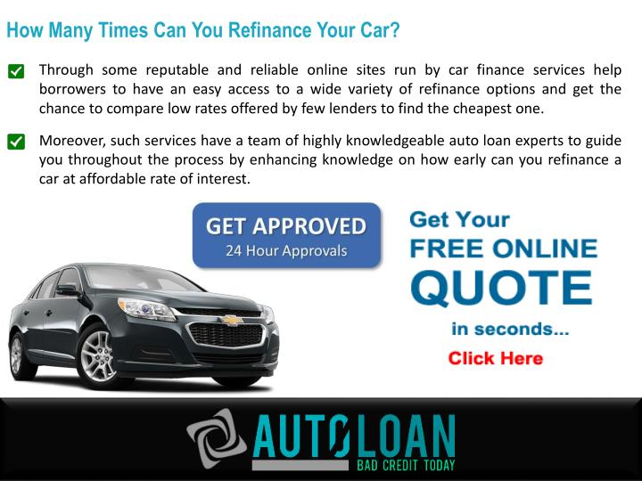 How Many Times Can You Refinance Your Car?