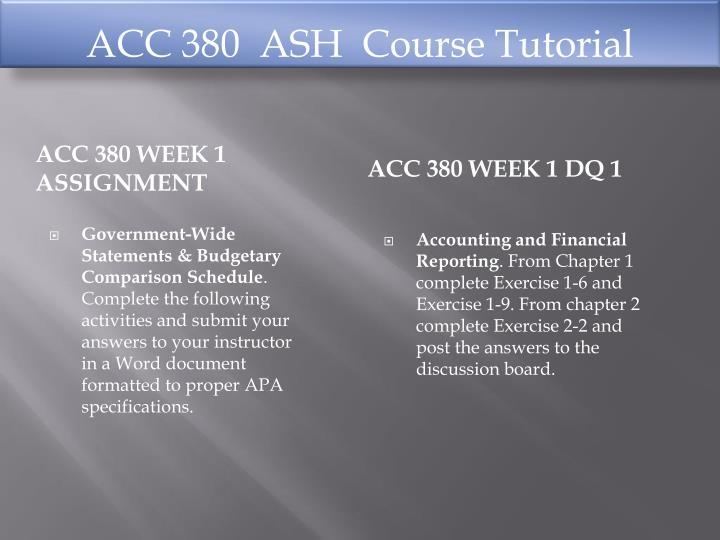 ACC 380  ASH
