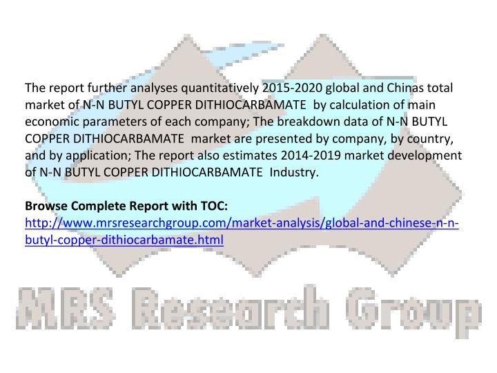 The report further analyses quantitatively 2015-2020 global and Chinas total