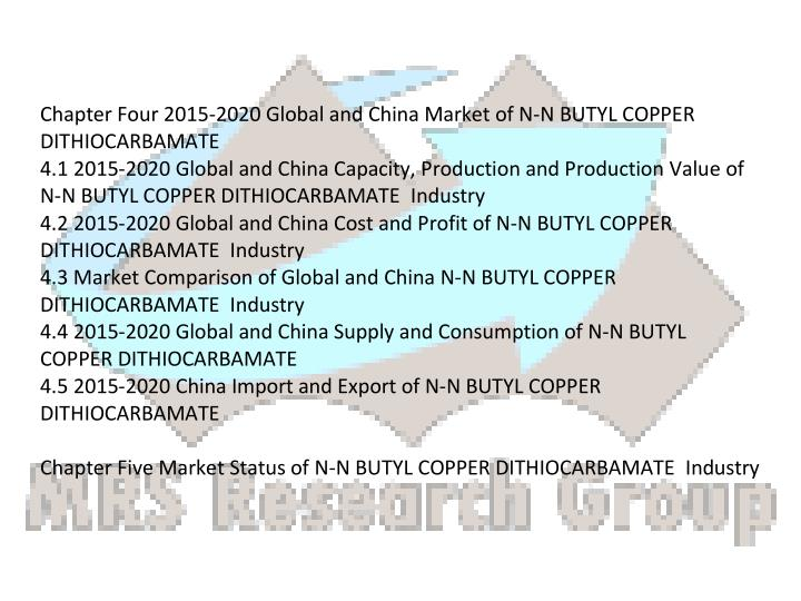 Chapter Four 2015-2020 Global and China Market of N-N BUTYL COPPER