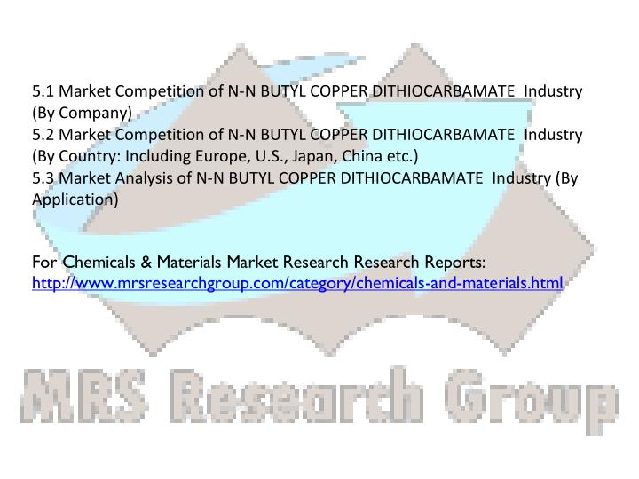 5.1 Market Competition of N-N BUTYL COPPER DITHIOCARBAMATE  Industry