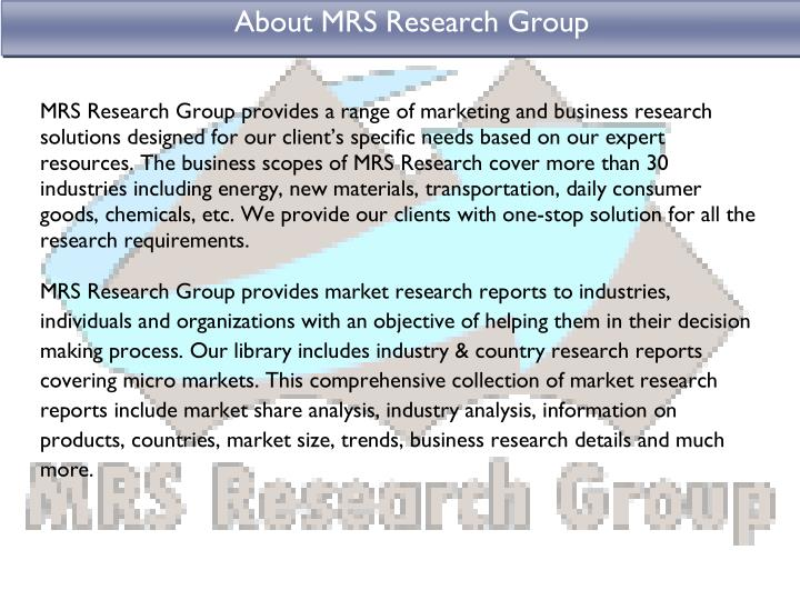 About MRS Research Group