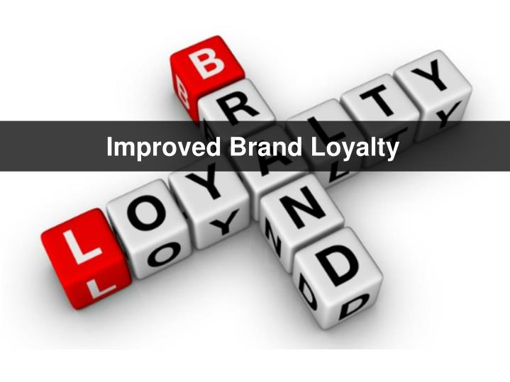 Improved Brand Loyalty