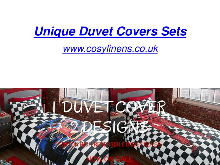 Unique duvet covers sets