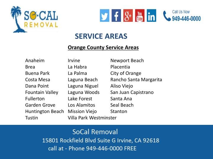 SERVICE AREAS