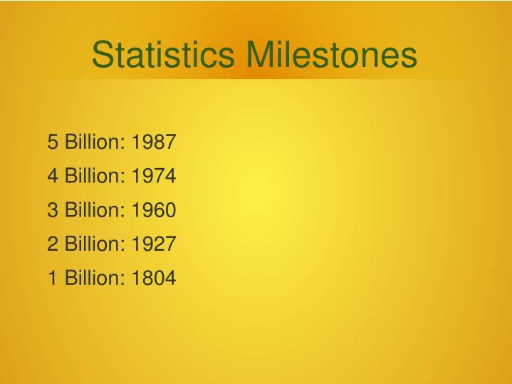 Statistics Milestones