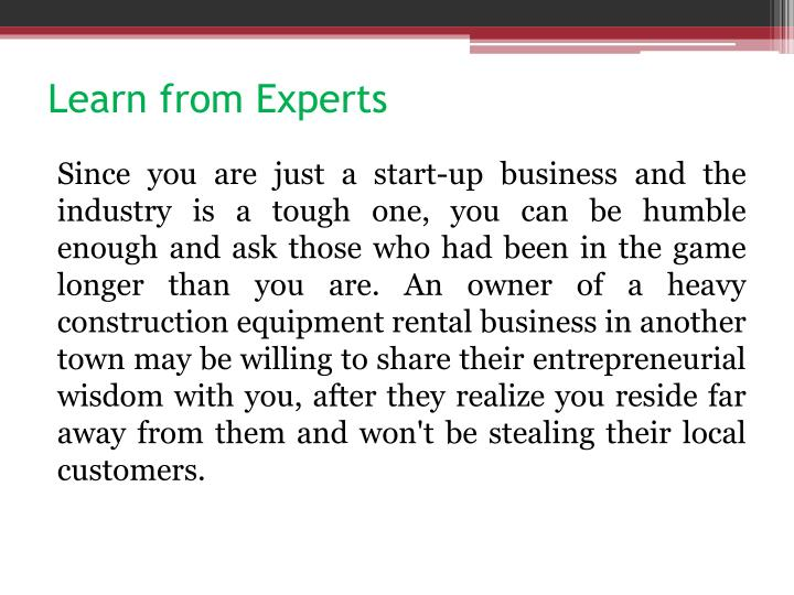 Learn from Experts