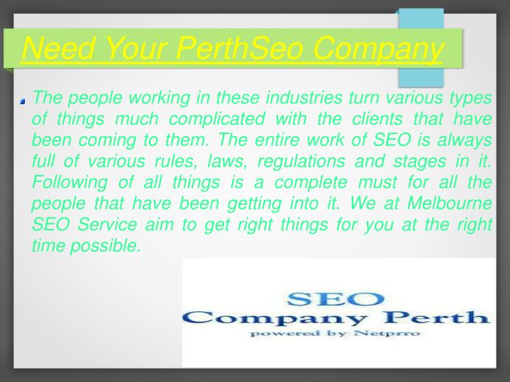 Need Your PerthSeo Company