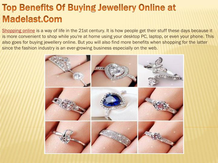 top benefits of buying jewellery online at madelast com