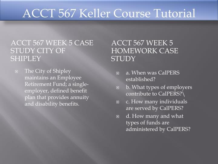 ACCT 567 Keller Course