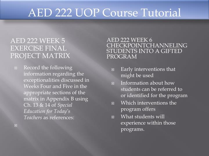 AED 222 UOP