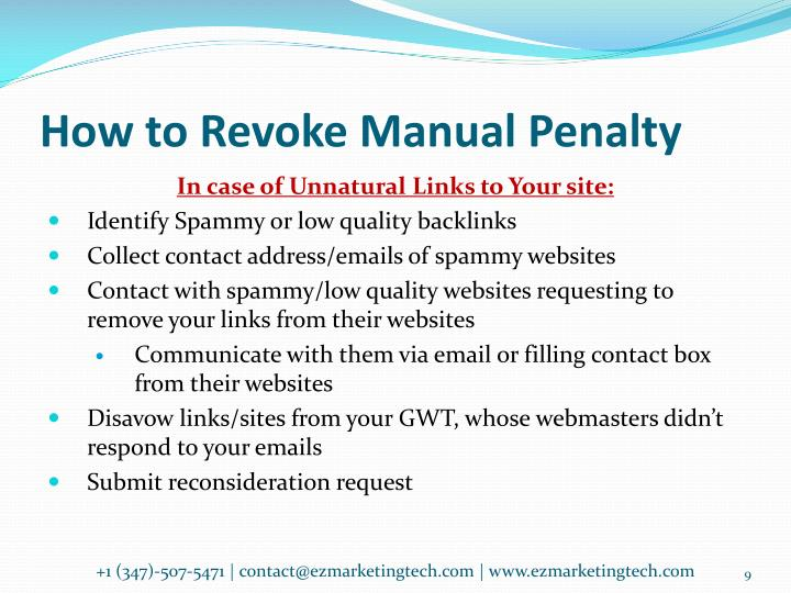 How to Revoke Manual Penalty