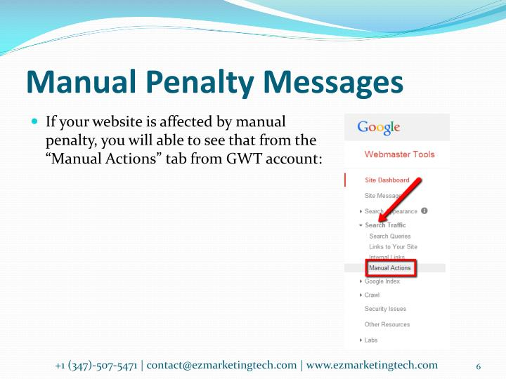Manual Penalty Messages