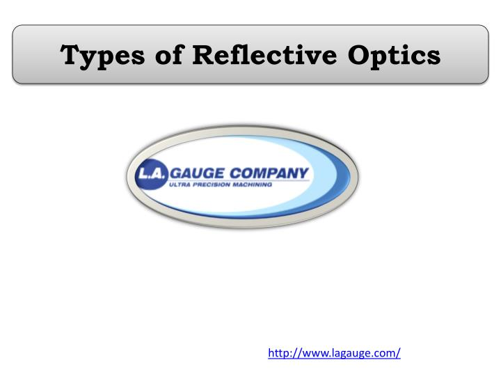 Types of reflective optics