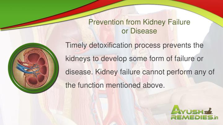 Prevention from Kidney Failure or Disease