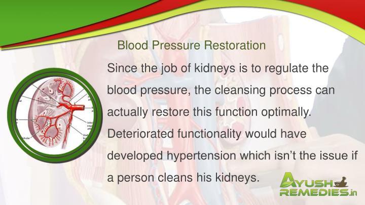 Blood Pressure Restoration
