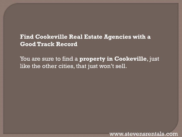 Find Cookeville Real Estate Agencies with a Good Track
