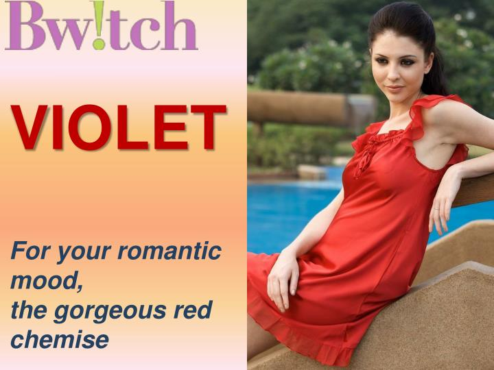 Violet for your romantic mood the gorgeous red chemise