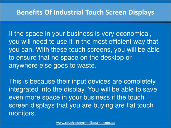 Benefits Of Industrial Touch Screen Displays