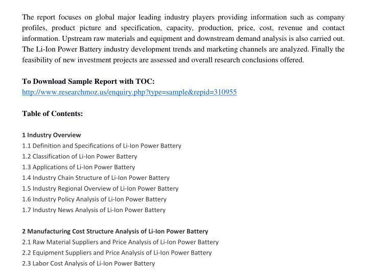 The report focuses on global major leading industry players providing information such as company