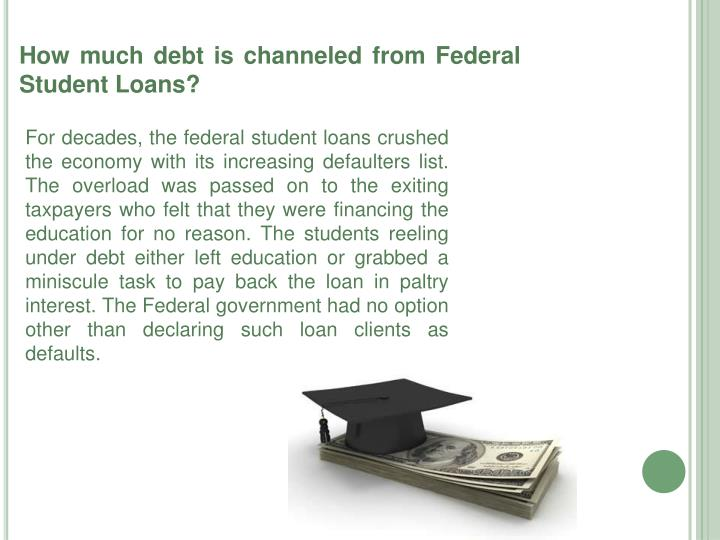 How much debt is channeled from Federal Student Loans?